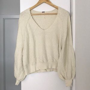 Free People Small Cream Sweater